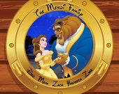 Disney Cruise Door Magnet  Beauty and the Beast Custom Personalized Disney Cruise Line Stateroom Door Magnet
