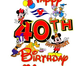 Custom Personalized Happy Birthday Mickey and Gang Disney Cruise Line Stateroom Door Magnet