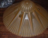 Art Deco 3 Chain Ceiling Light w/ Fantastic Shade, Working, Mounting Hardware. Vintage, Old, Original
