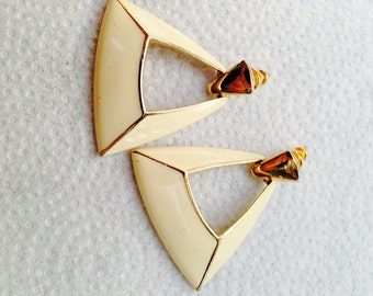 Blast from the past - ivory earrings