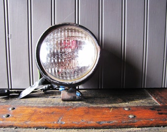 Vintage Industrial GE Tractor Lamp Light Man Cave