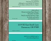 Housewarming Paint Chip Invite/Digital File/Colors Customizable