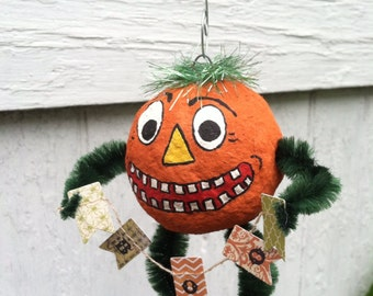 Spun Cotton Halloween Ornament
