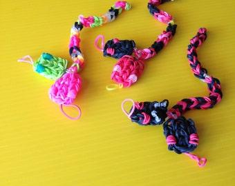 Rainbow Loom Snake Charm COLORFUL SNAKES! Rainb...