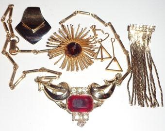 mixed jewelry lot repair destash assemblage