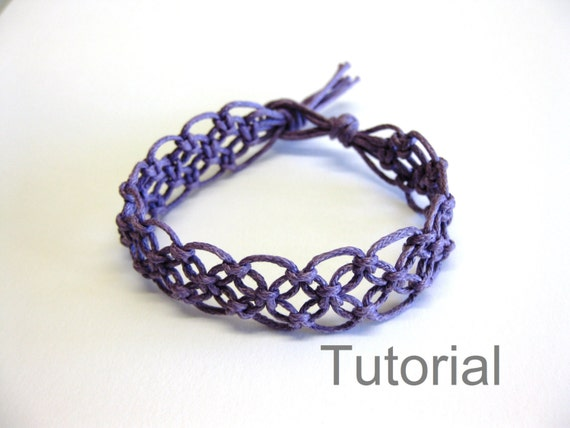 Lacy macrame bracelet pattern tutorial pdf purple step by step knot
