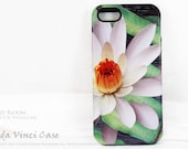 Lotus iPhone 5s Case - Green and White Floral iPhone 5 Cover - Sun Bloom -  Lotus Blossom TOUGH iPhone 5 5s Case