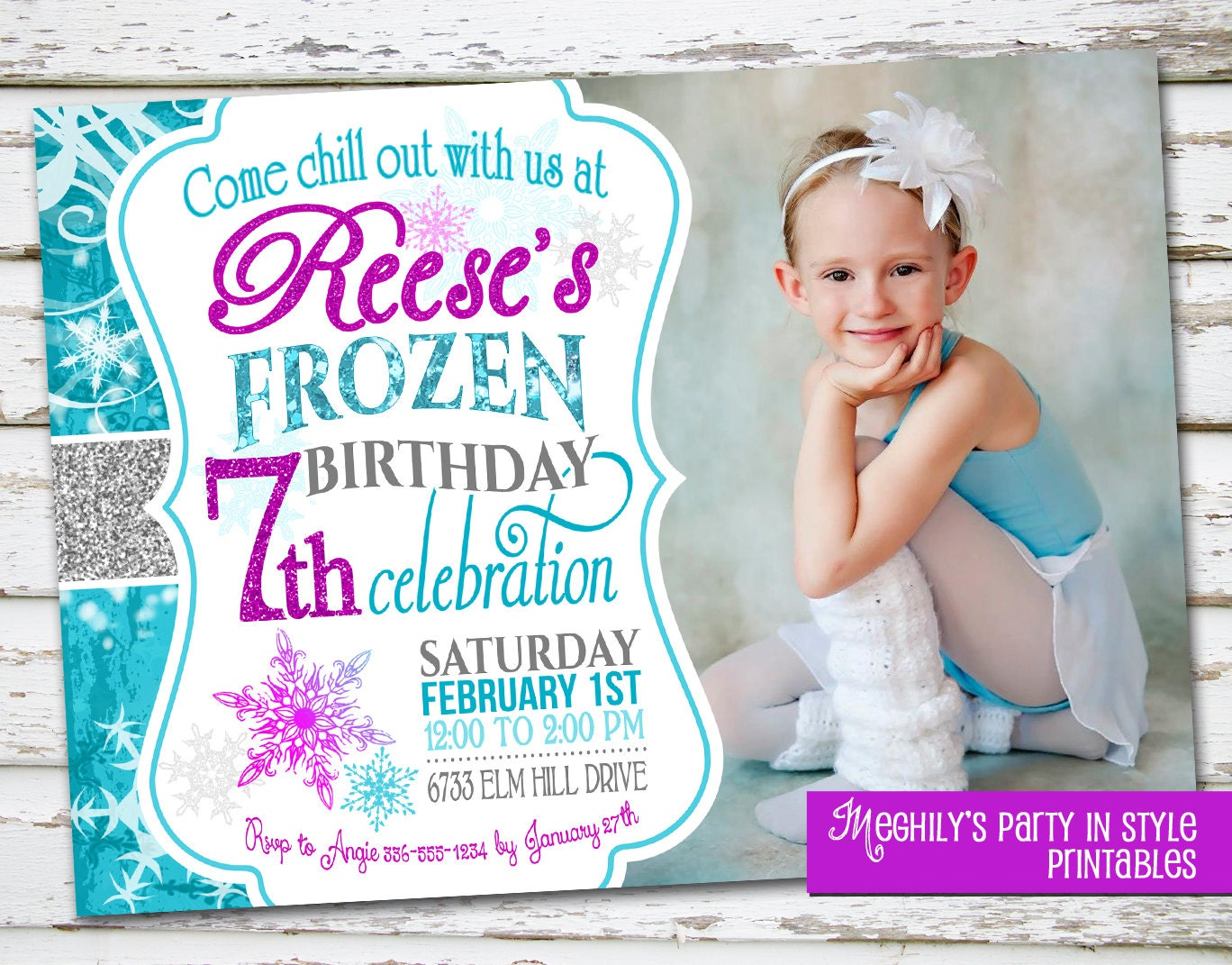 Frozen Birthday Invitation with Photo