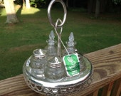 Vintage Ballet Silverplate Condiment Server Made In England