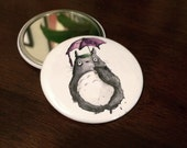 Totoro Limited Edition Pocket Mirrors, Studio Ghibli Inspired Valentine's Day Gift for Her. Geek Girl Nerd.