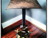 Industrial Table / Metal Night Stand / Bed Side Table / Scissor Jack Base