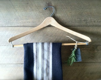 Old Wooden Hanger ~ Towel Bar ~ Farmhouse Decor ~ Cottage Chic ~ Laundry Room Decor ~ Industrial Chic