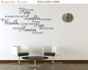 25% off May This Home Be Blessd With Laughter  Wall  Quotes Art Sticker Mural Quote (73)