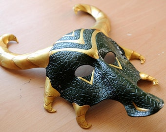 SALE! Loki Dragon leather mask
