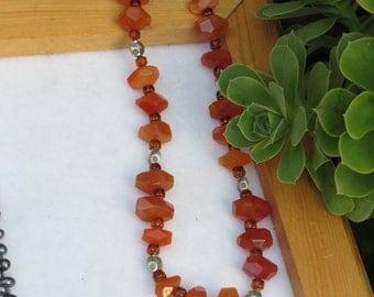 Carnelian Rock Necklace