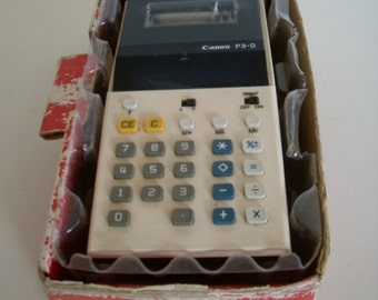 Vintage Canon P3-D Palm Printer Calculater