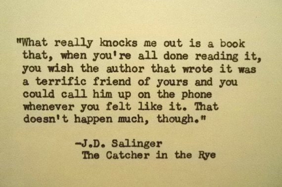 catcher in the rye essay quotes