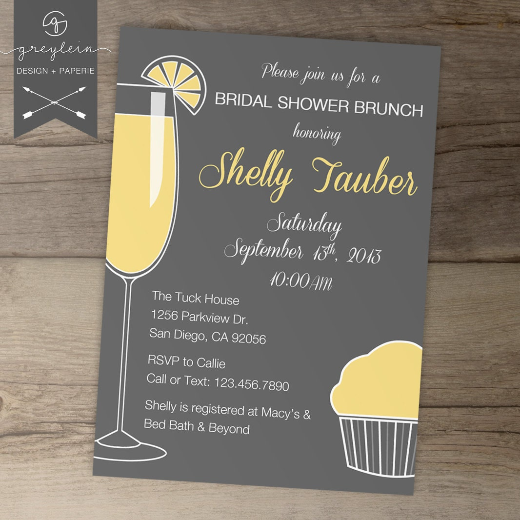 Bridal Shower Brunch Invitations / Bachelorette Invites