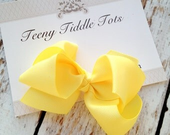 Yellow Boutique Hairbow - Boutique Hairbow