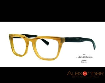 Eyeglasses handcrafted Eyewear by the finest quality Buffalo horn 2014. FREE SHIPPING