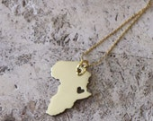 Love for Africa Gold Heart cut out Necklace