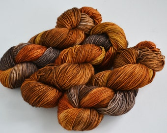 Hand dyed yarn pick your base - Moroccan Spice - sw merino cashmere nylon fingering dk worsted