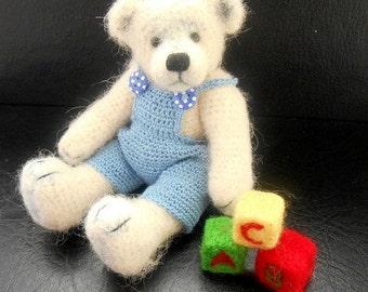 Henry - A Miniature Crochet artist bear OOAK