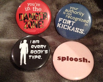"Archer Quote 2 1/4"" Buttons [Set of 4]"