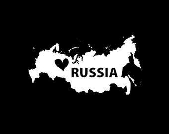 Russia Window Decal