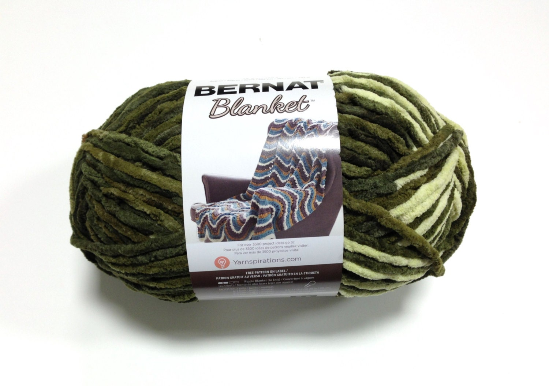 Bernat Blanket Yarn Gathering Moss Large Skein 300 Grams New