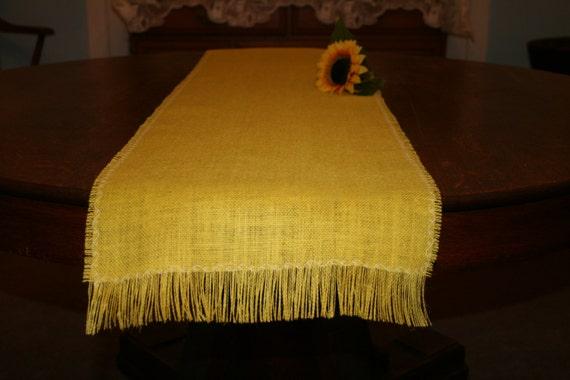 13 x 120 inch sunflower yellow burlap table runner farm for 120 inch table runner