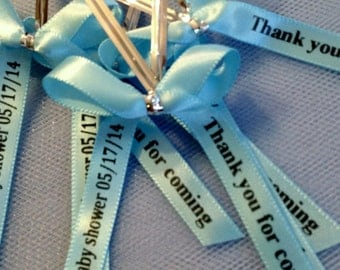 personalized ribbon for party favors 40 baby shower favors wedding