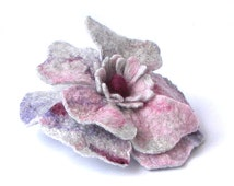 valentines gift for her felted flower pin Pastel Felted Brooch Flower Brooch Wool Brooch, Handmade