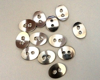 4 Stainless Steel Buttons for leather wrap bracelets, wrap bracelet closures, leather wrap clasps, bracelet clasps, silver,