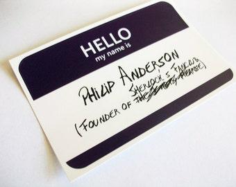 Philip Anderson Name Tag Sticker