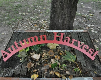 Autumn Harvest- Red Curved Sign