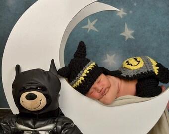 Little Batman Photography Prop Set - Newborn