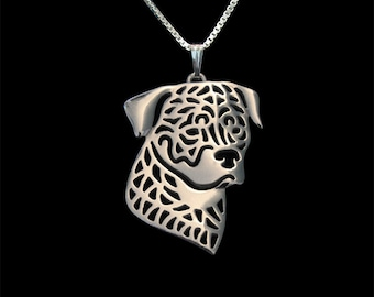 Rottweiler jewelry - sterling silver pendant and necklace