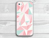 Coral Pink Geometric iPhone 5 Case, Triangle iPhone 4 Case, Pastel Samsung Galaxy s3 Case, Geometric iPhone s4 Case