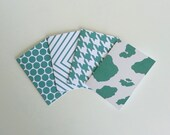 Patterned Cards Polka Dot Chevron Cow Hide Houndstooth Printed Note Card Geometric Pattern Stationery Set of 8 Greeting Cards Fashion Print