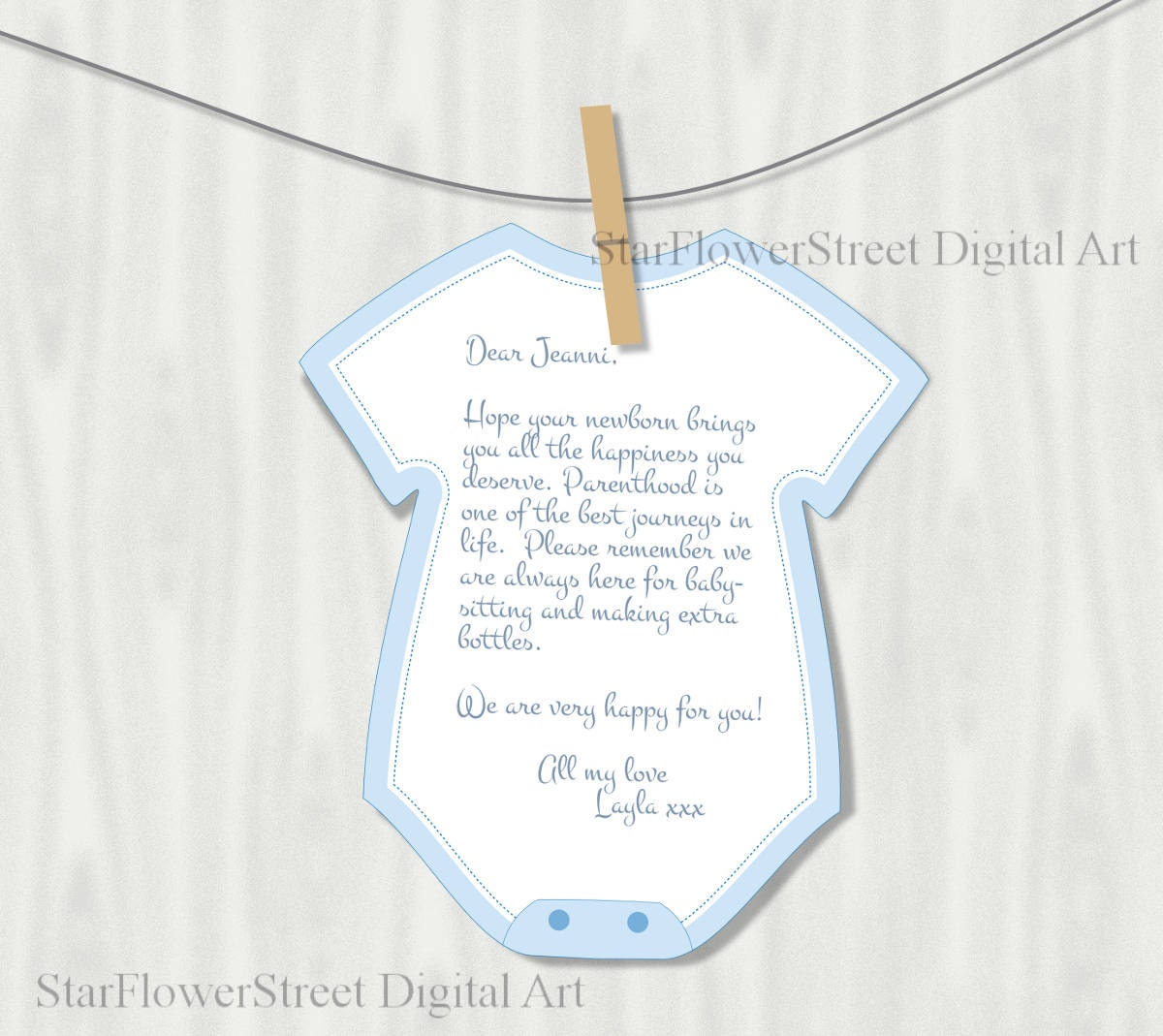 Printable onesie cutout wishes for baby boy by for Baby shower decoration cutouts
