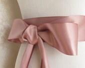 Dusty Mauve Double Face Sash  Ribbon /  Ribbon Sash /DIY Sash /