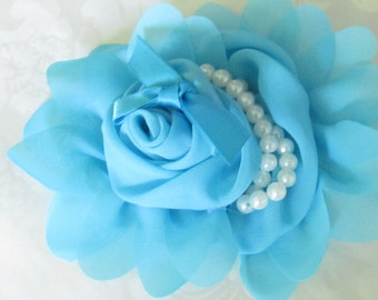Fabric Flower / Hair Flower / 1pc  NO CLIPS