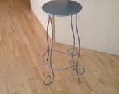 Scroll iron stool