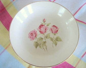 Vintage Soup Bowls Pink Rose Set of 4 Shabby Cottage Chic Vintage Wedding