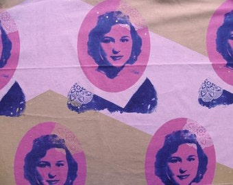 Melody Miller Ruby Star Polka Dot Self Portrait Color C - One Yard Panel