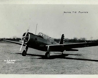 World War II US Army Photo Snapshot Photograph - Vultee T-15  Fighter Plane