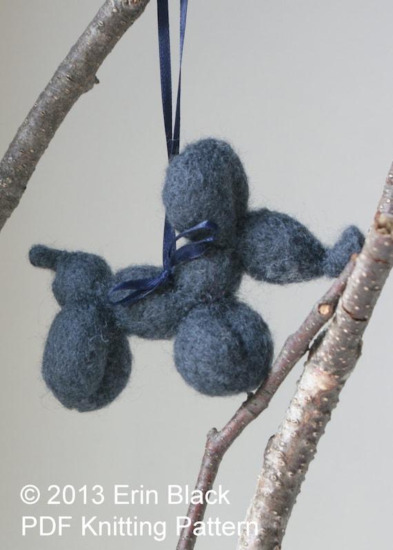 Knitting Inspirations Perth : Diy knitting pattern knit balloon dog wool felt toy