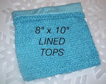 8 X 10  LINED TURQUOISE Crochet Tutu Top, Tutu Top, Crochet Tutu Top, Tube Top, Turquoise Crochet Top, LARGe Crochet TuTu Top