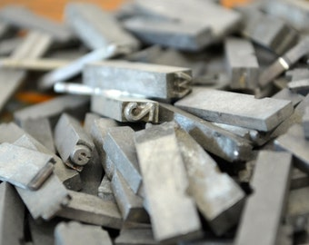 Ships Free - One pound small assorted metal letterpress type - Vintage letterpress metal type collection